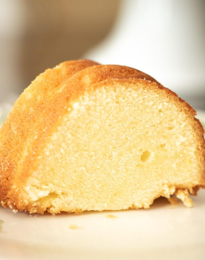 close up of pound cake