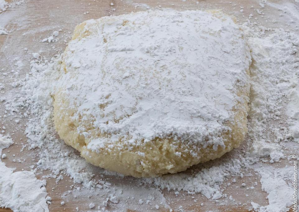 floured disc of cookie dough