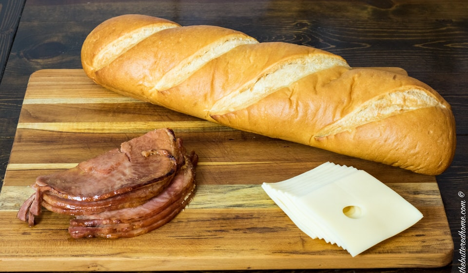 bread ham and Swiss cheese