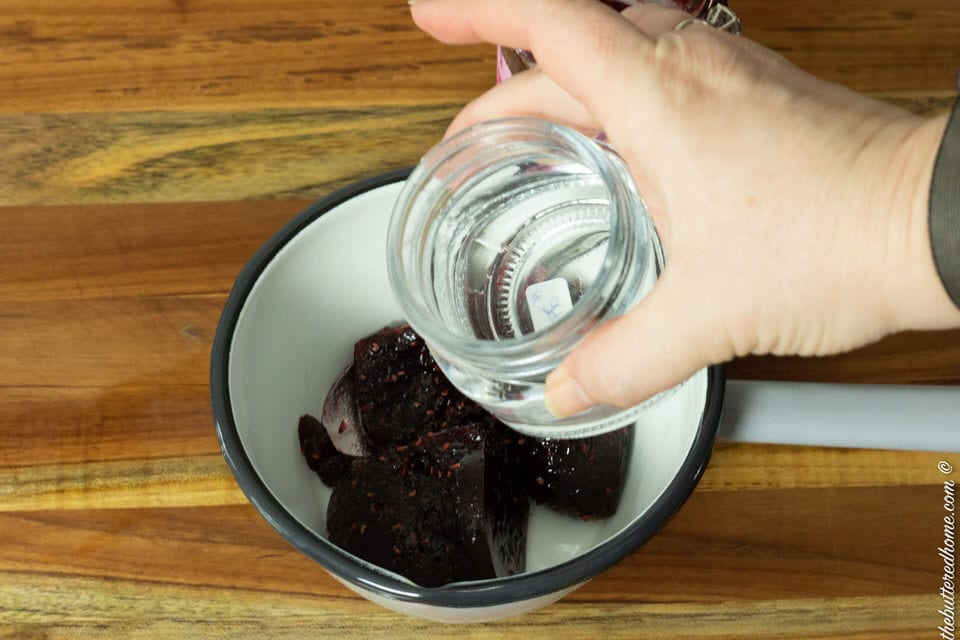 adding water to preserves