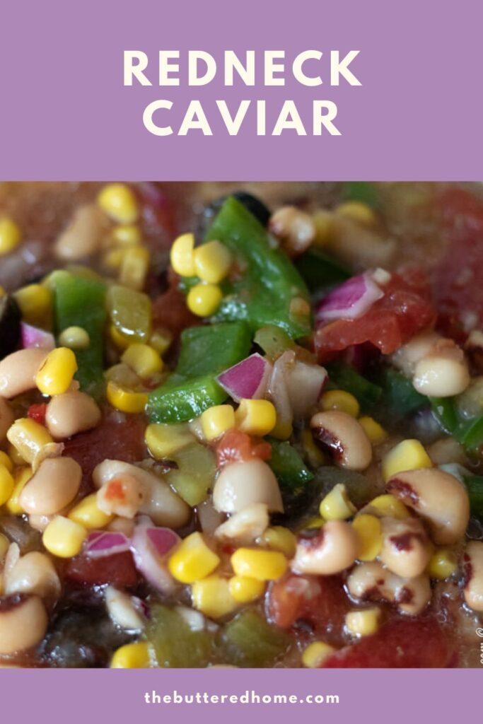 redneck caviar pin for pinterest