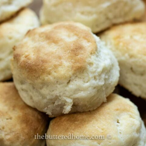 close up of homemade biscuits