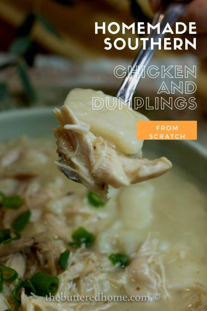 chicken and dumplings pin for pinterest