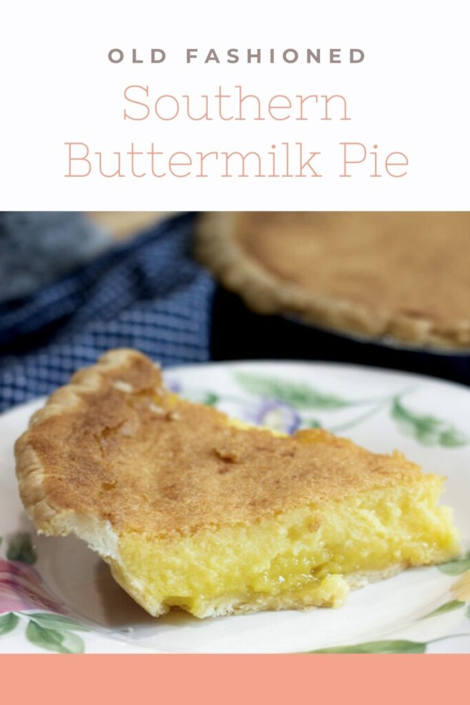 buttermilk pie pin for pinterest