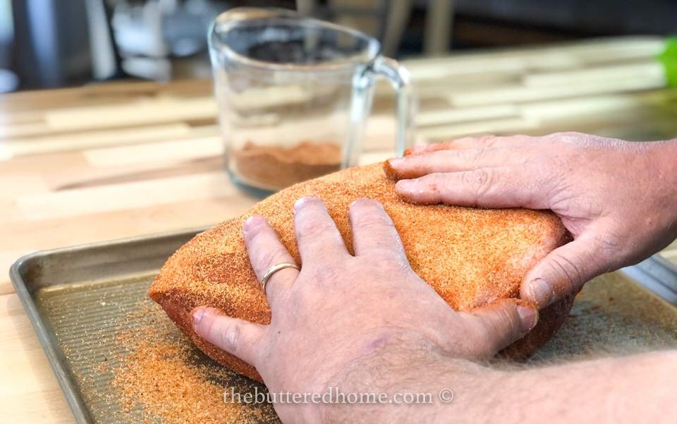 massaging the rub into the Boston butt