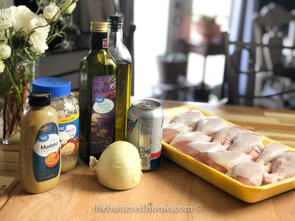 drunken chicken leg ingredients