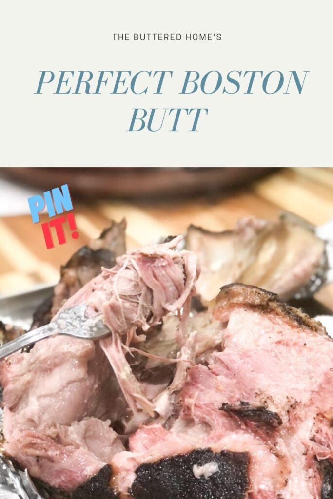 smoked Boston butt pin