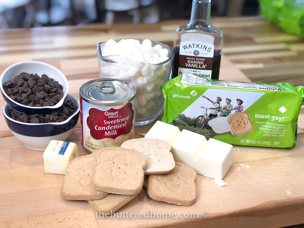 ingredients for s'mores candy