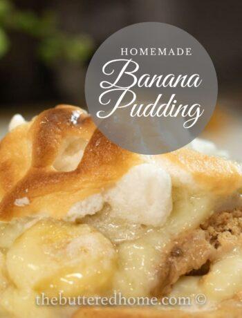 Homemade Banana Pudding