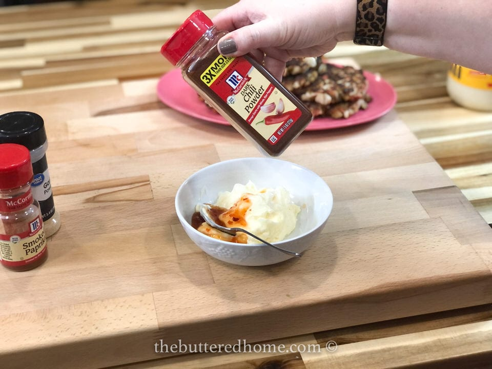 adding chili powder