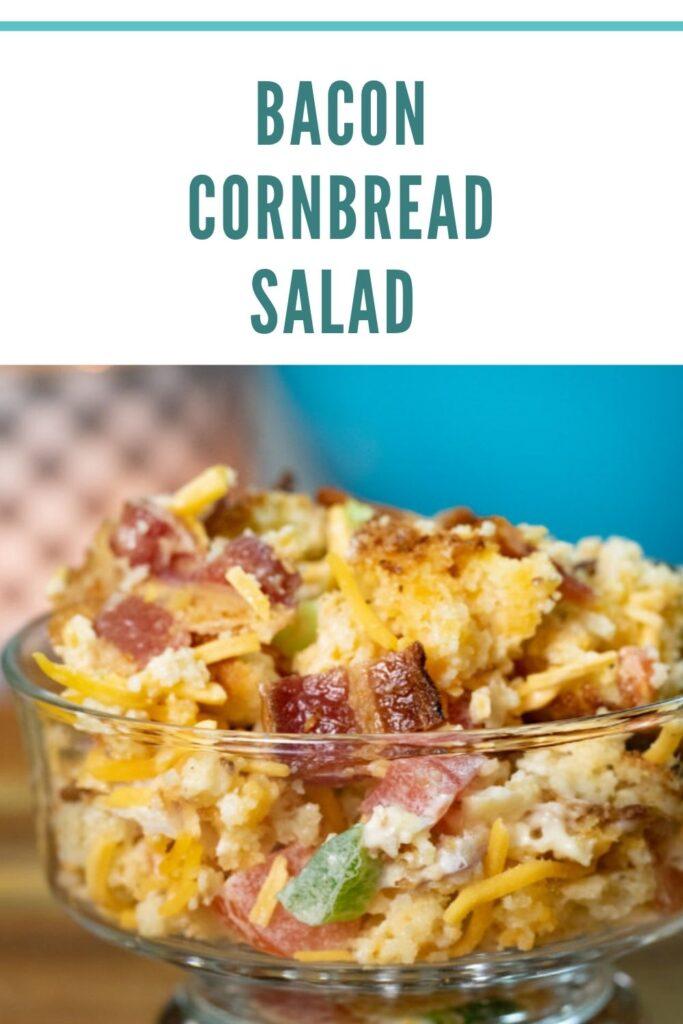 bacon cornbread salad pin