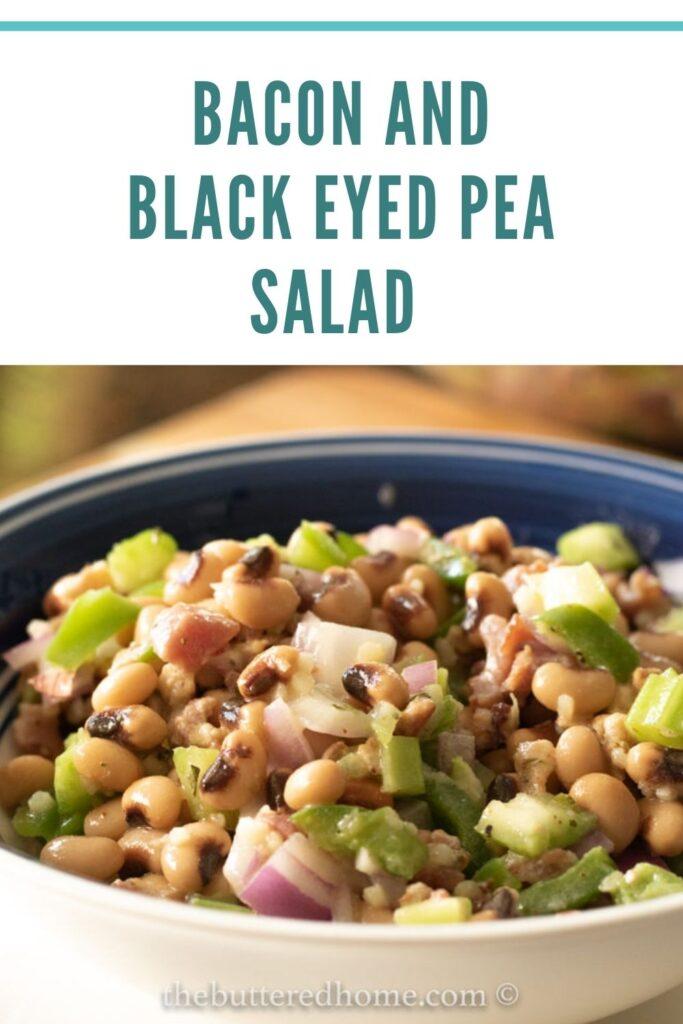 bacon and black-eyed pea salad pin