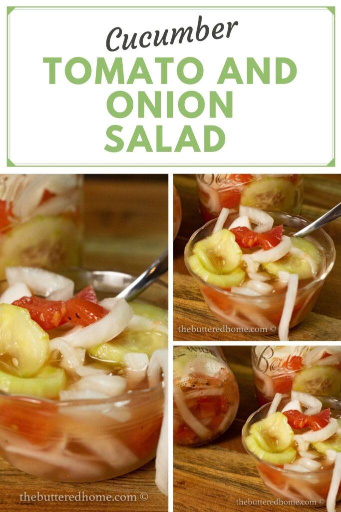 cucumber onion and tomato summer salad pin