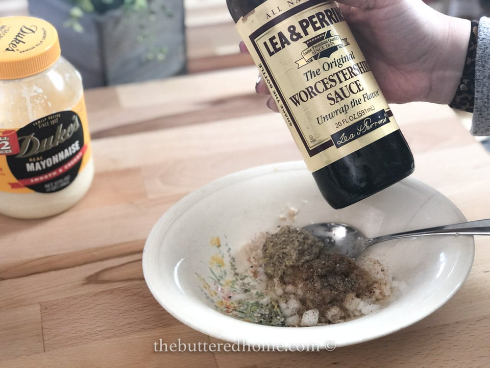adding Worcestershire sauce
