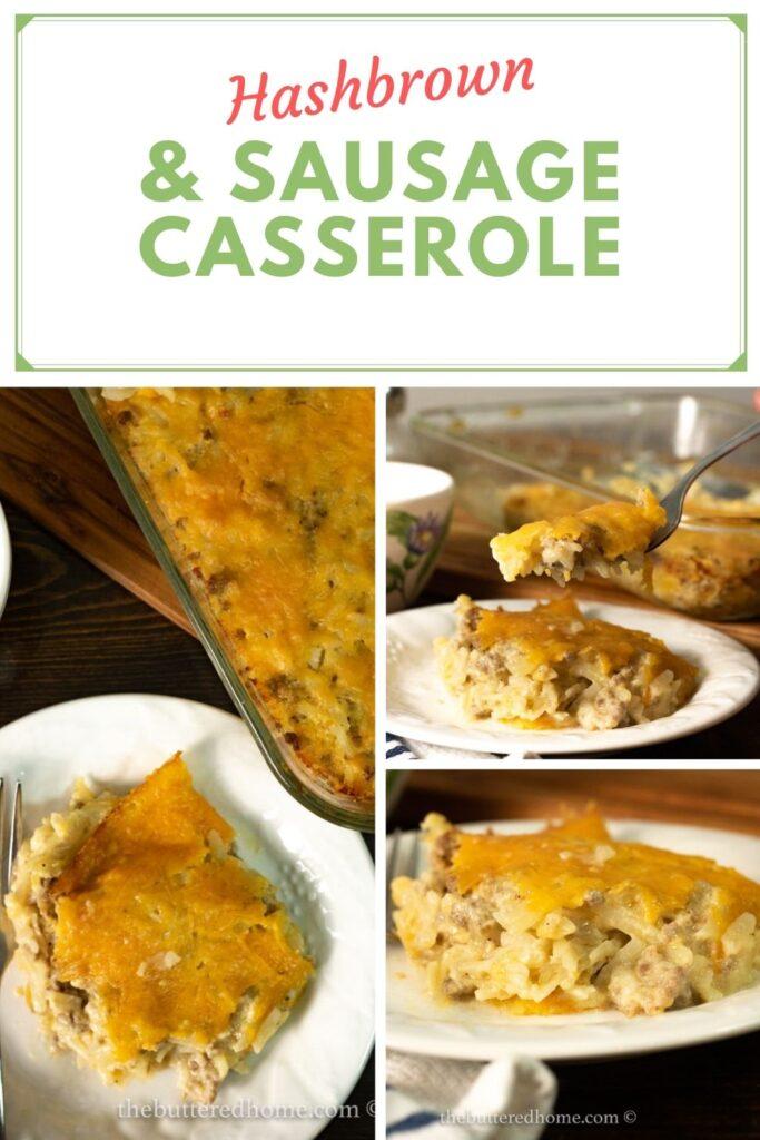 sausage hashbrown casserole pin