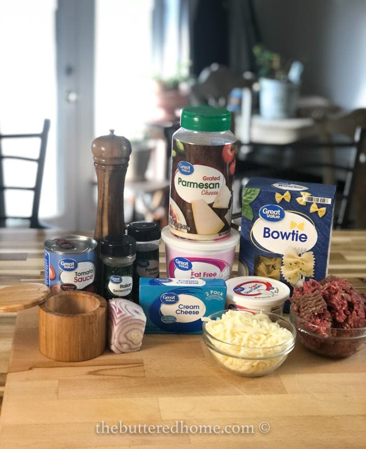 beef pasta bake ingredients