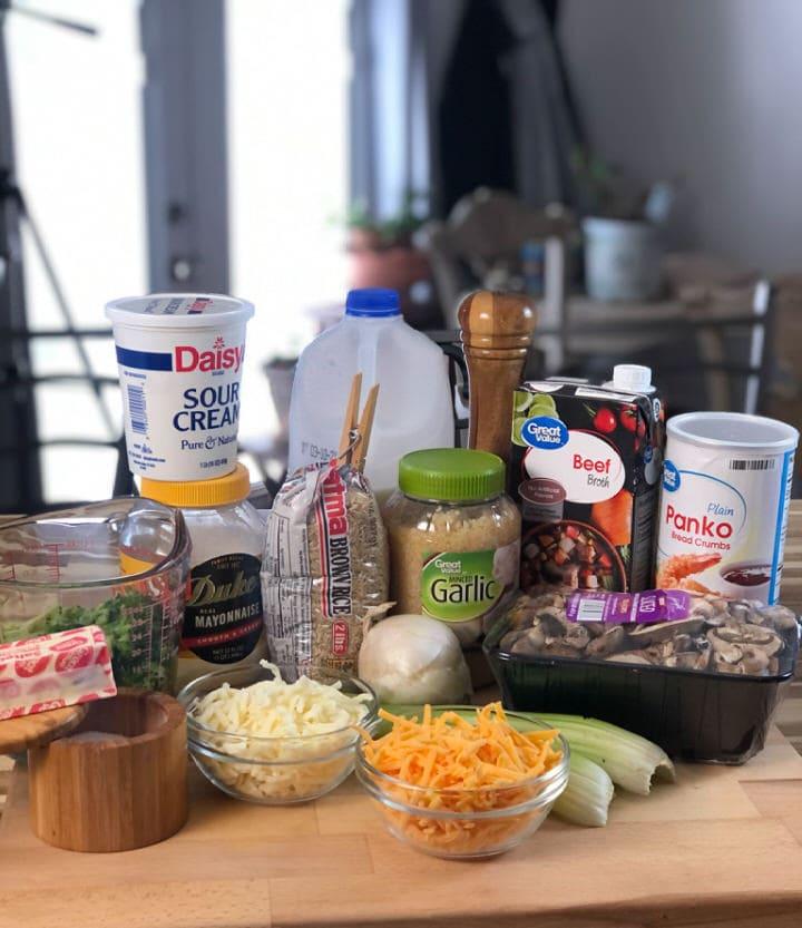 Broccoli and brown rice casserole recipe