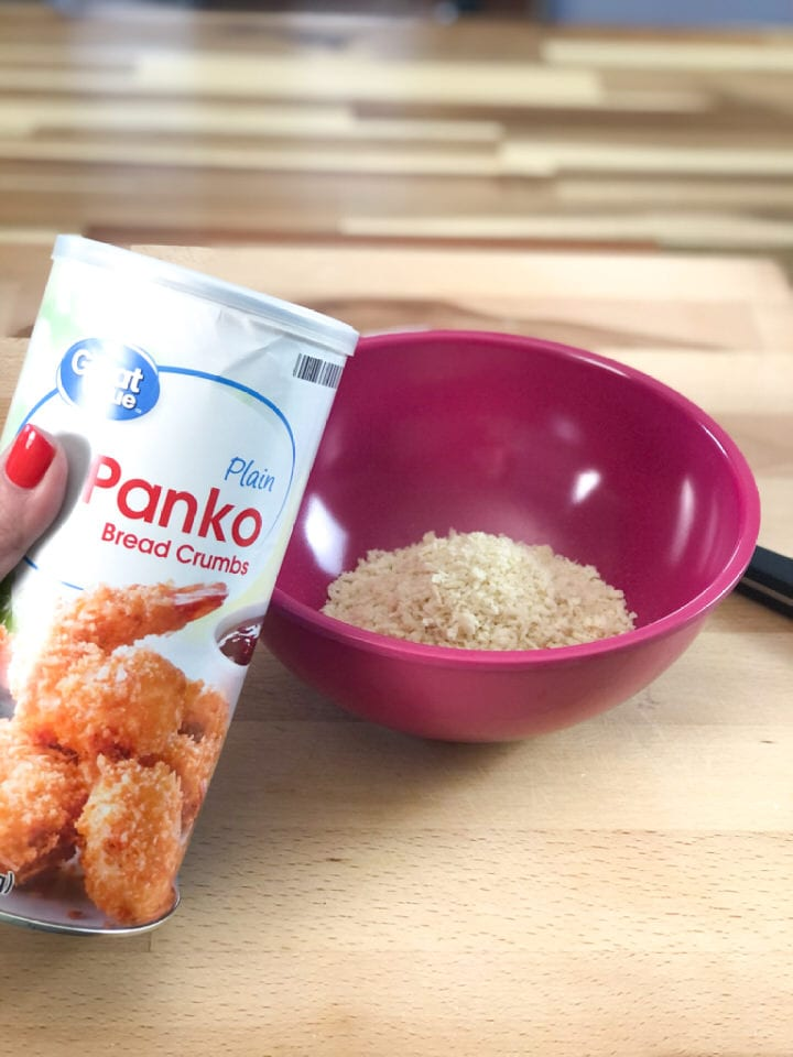 panic bread crumbs in a small bowl