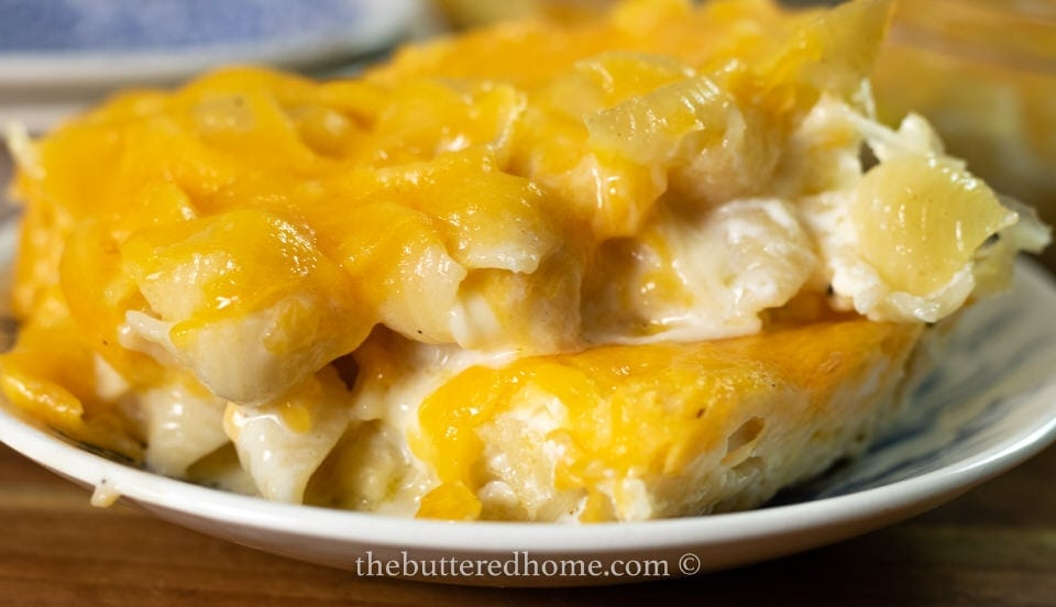big plate of love made in macaroni and cheese